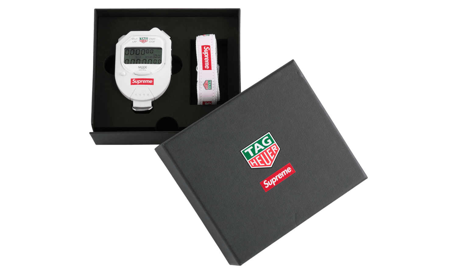 Image of Supreme Tag Heuer Pocket Pro Stopwatch White