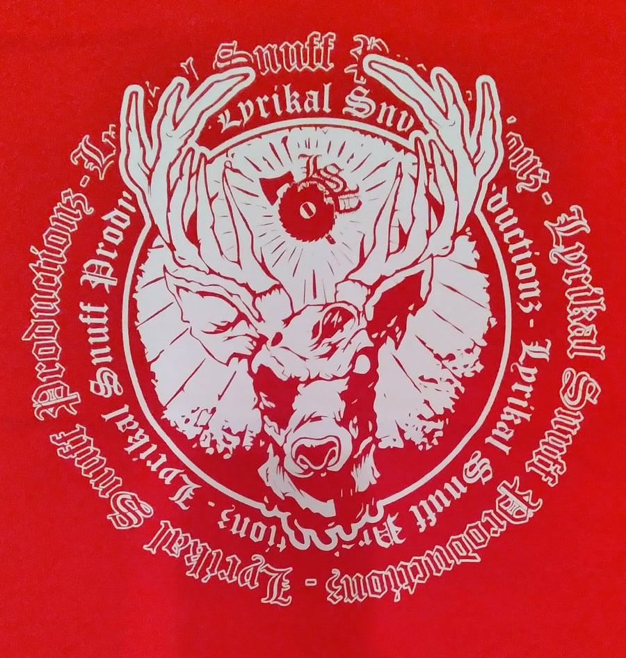 Image of LSP :  RED NEVERENDING SNUFF   Tall Tee & reg shirt