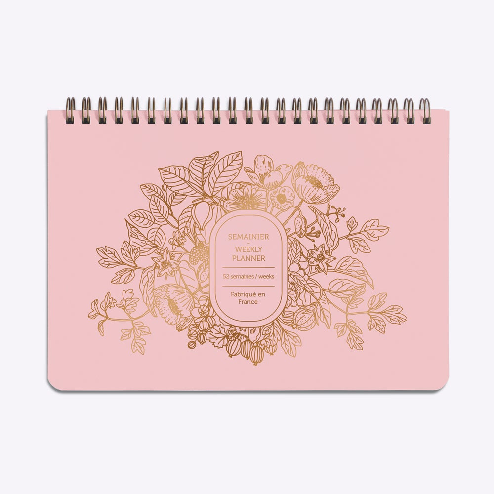 Image of PLANNER / SEMAINIER ABONDANCE rose