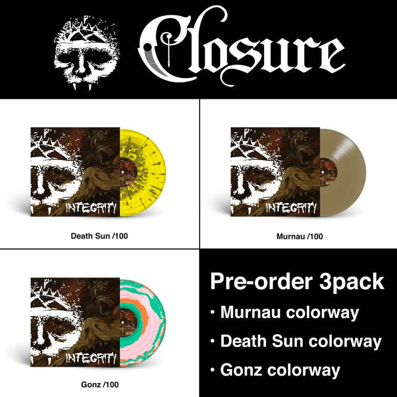 """Image of INTEGRITY """"Closure"""" 3-pack 12"""" vinyl pre-order • limited offer"""