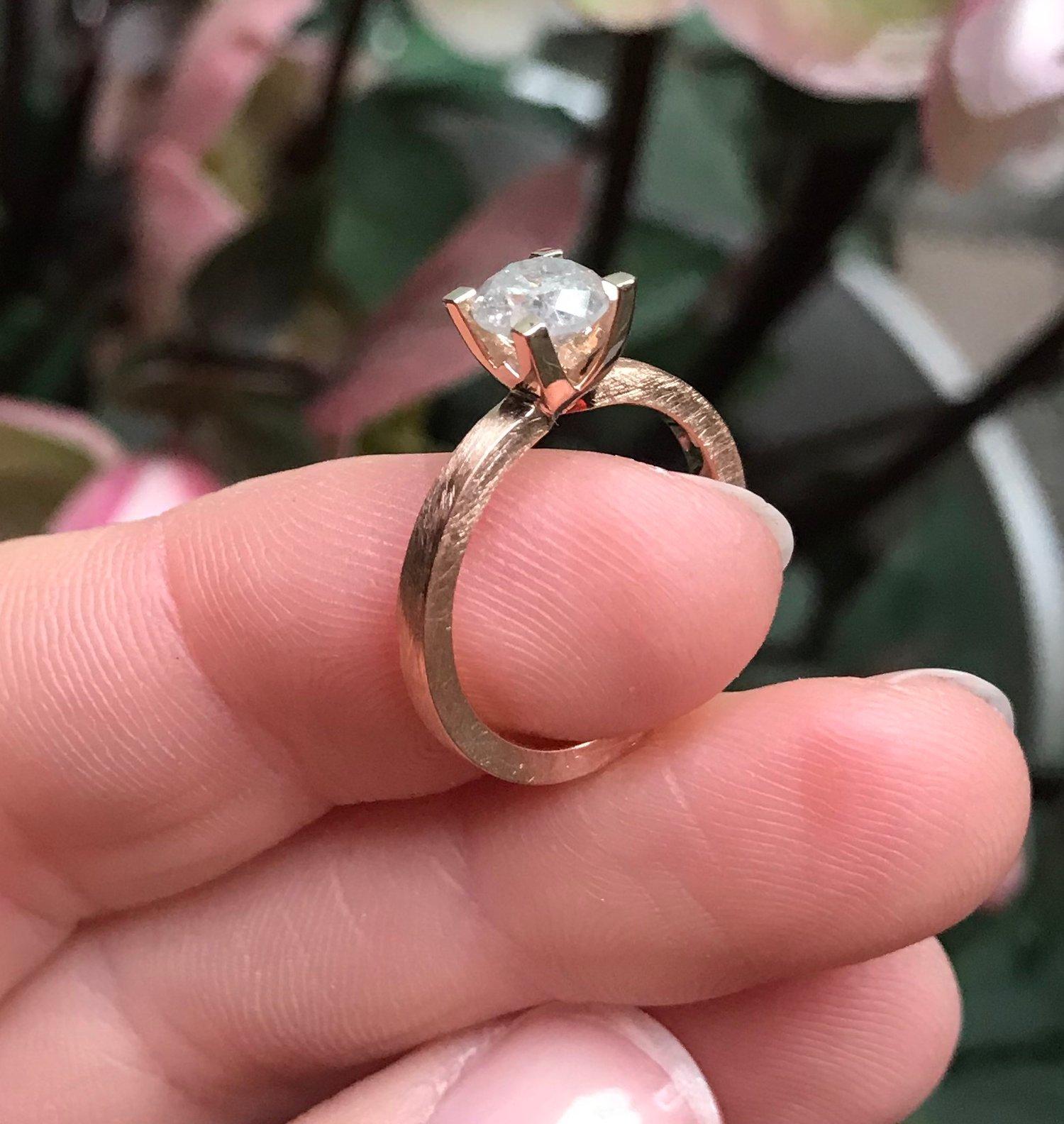 Image of ice diamant solitaire - verlovingsring - geboortering