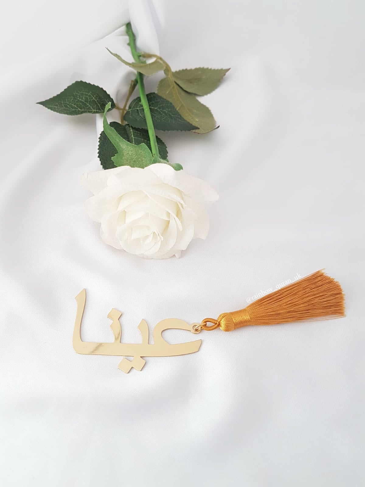 Image of Personalised bookmark in gold
