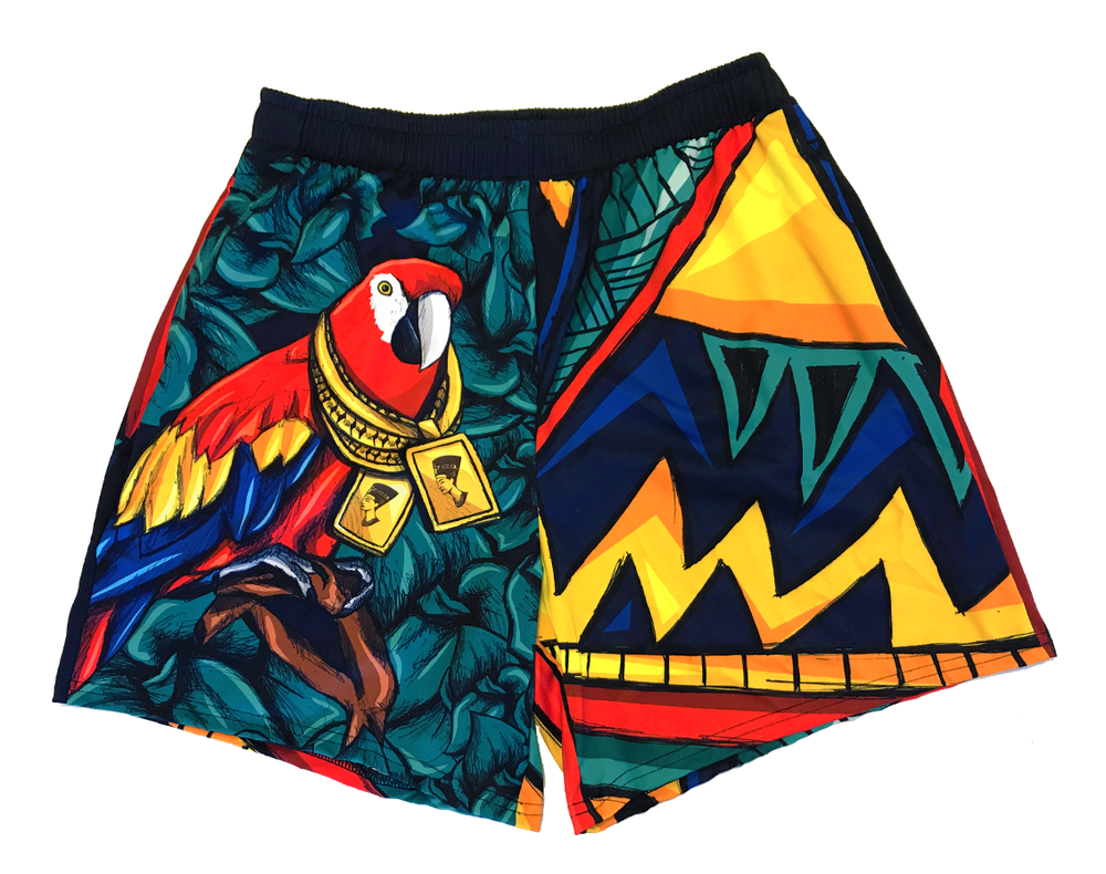 Image of Parrot Talk (Drawstring Shorts)