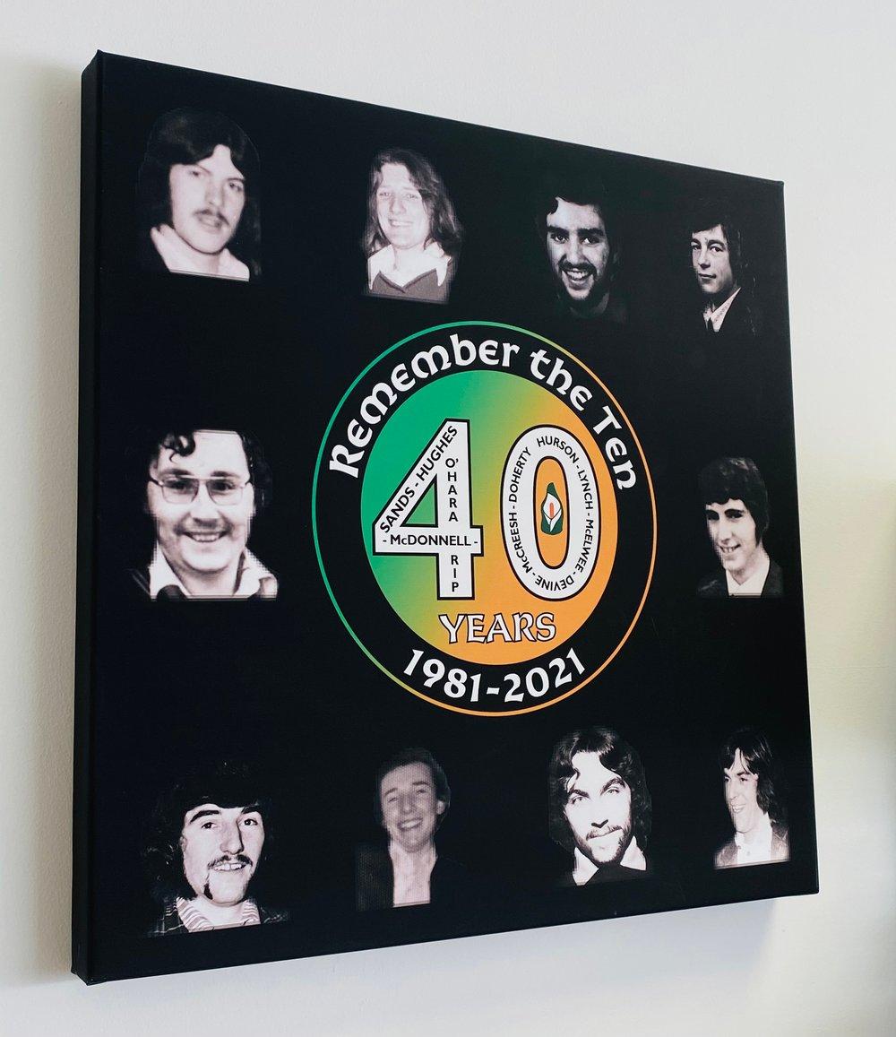 Hunger Strikes 40th Anniversary 20x20 Inch Canvas