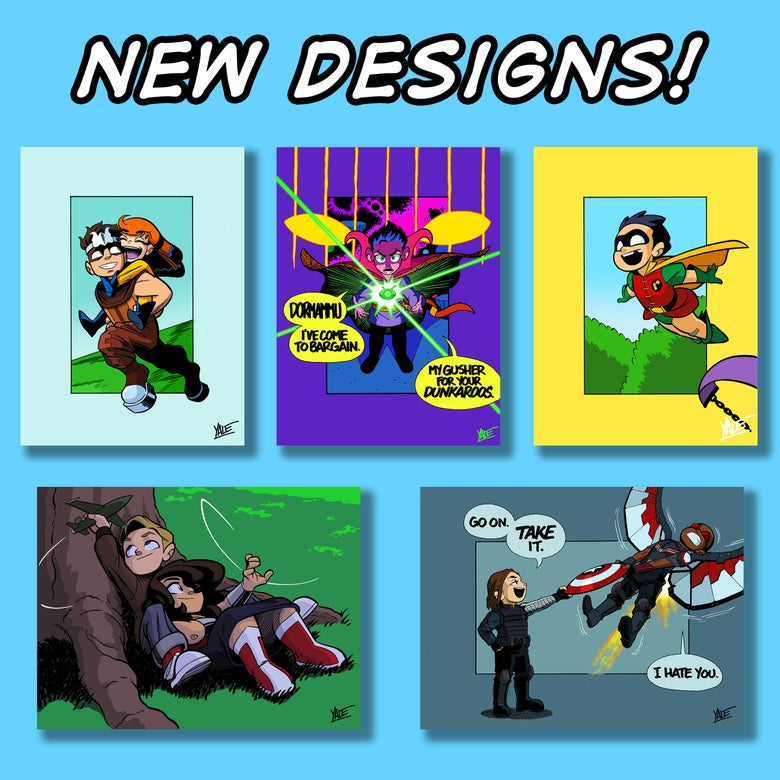"""Image of *NEW* 9""""x12"""" Assorted Designs  - Signed Prints, $10 each"""
