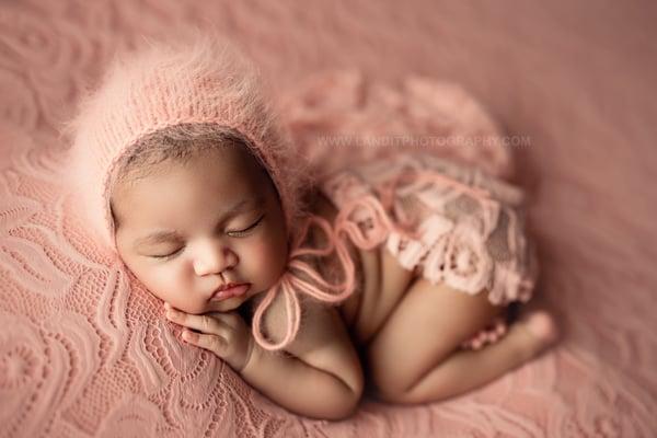 Image of Angora Bonnet - Sahara Rose