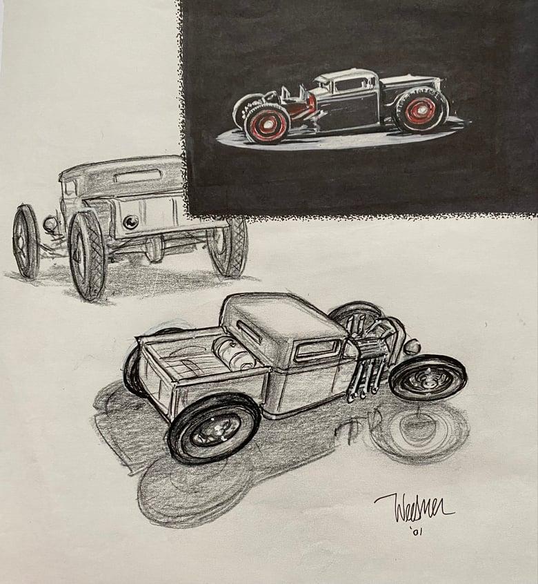 Image of Idea Sketch page for Shine Pickup Design