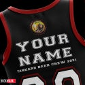 """Tankard """"BEER CREW 2021"""" Personalised Tank Top Shirt with Your Name On It. Limited edition to 100."""