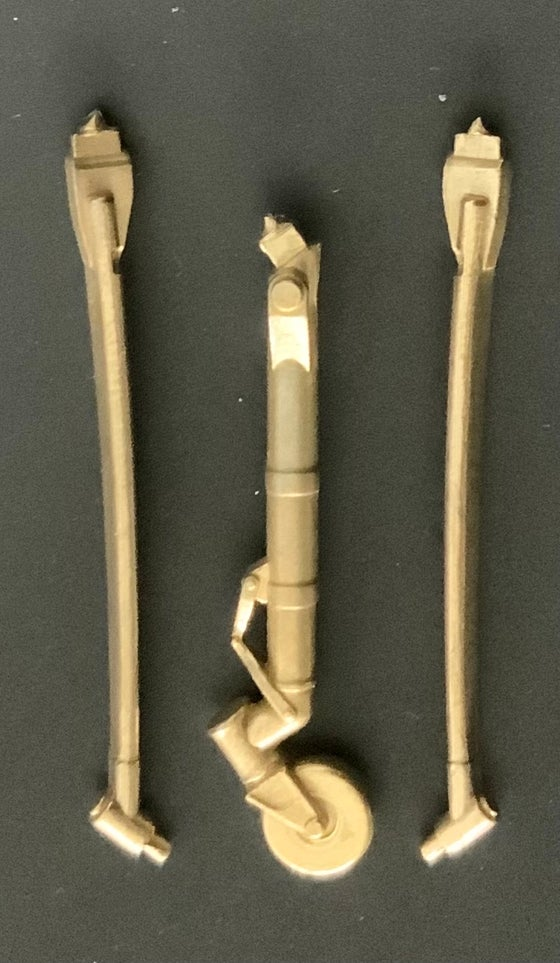 Image of General Atomics MQ-9 Reaper brass undercarriage set (1/48)