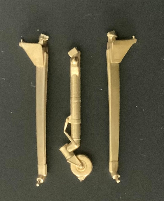 Image of General Atomics MQ-9 Reaper brass undercarriage set (1/72)