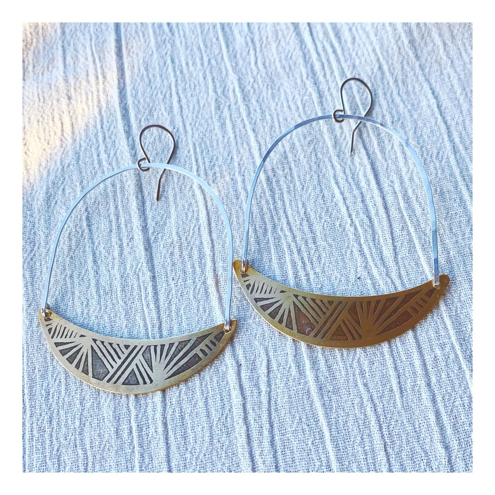Image of Flat Basket Hoops (Mixed Metals)