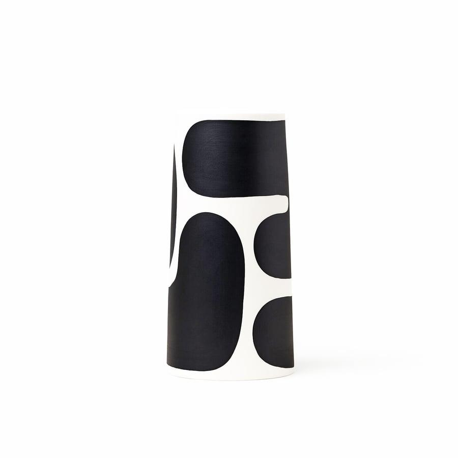 Image of Large Color Block Pillar Vase