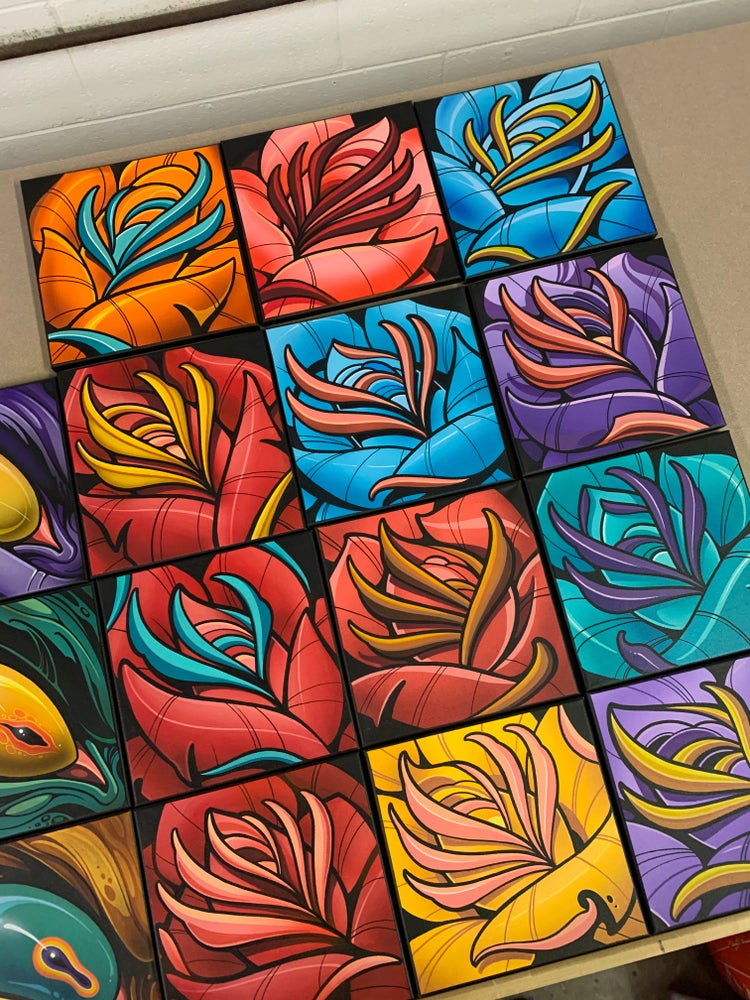 Image of 10x10 Roses on Canvas