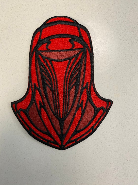 "Image of Stained Glass Style Emperor Royal Guard 4"" patch"
