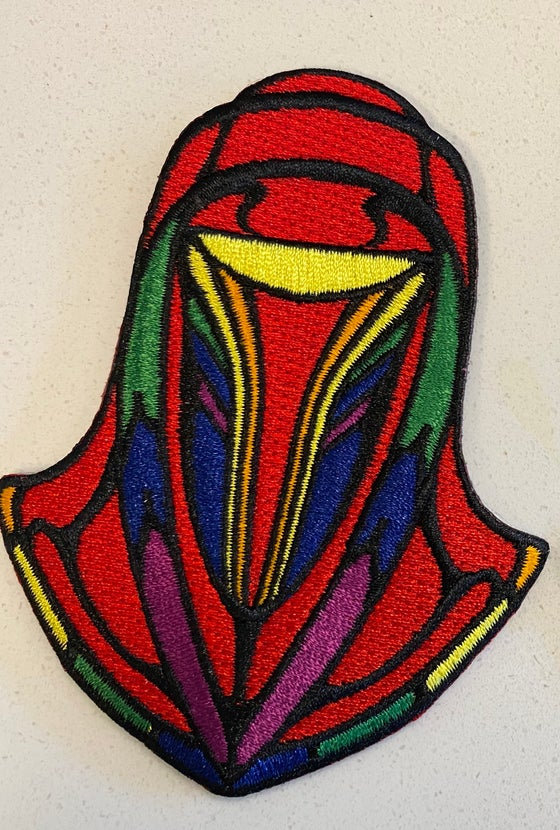 "Image of Rainbow Stained Glass Style Emperors Royal Guard 4"" patch"