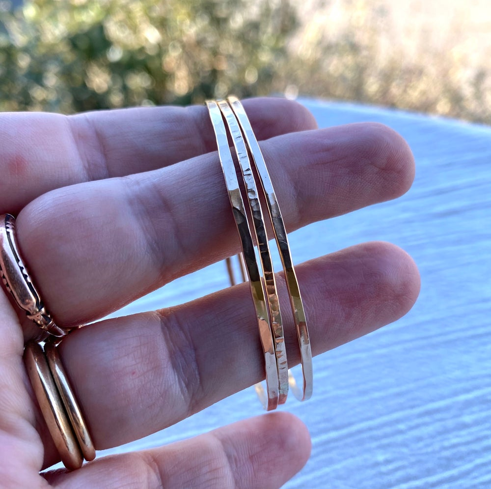 Image of -Discounted -14k Gold Fill Bangle Set of 3 (small)