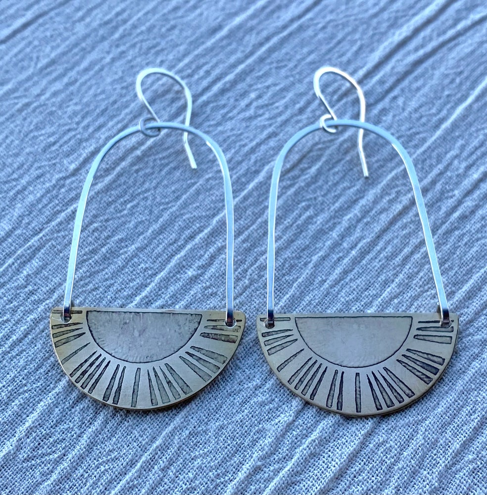 Image of Mixed Metals Sun Reflection Hoops