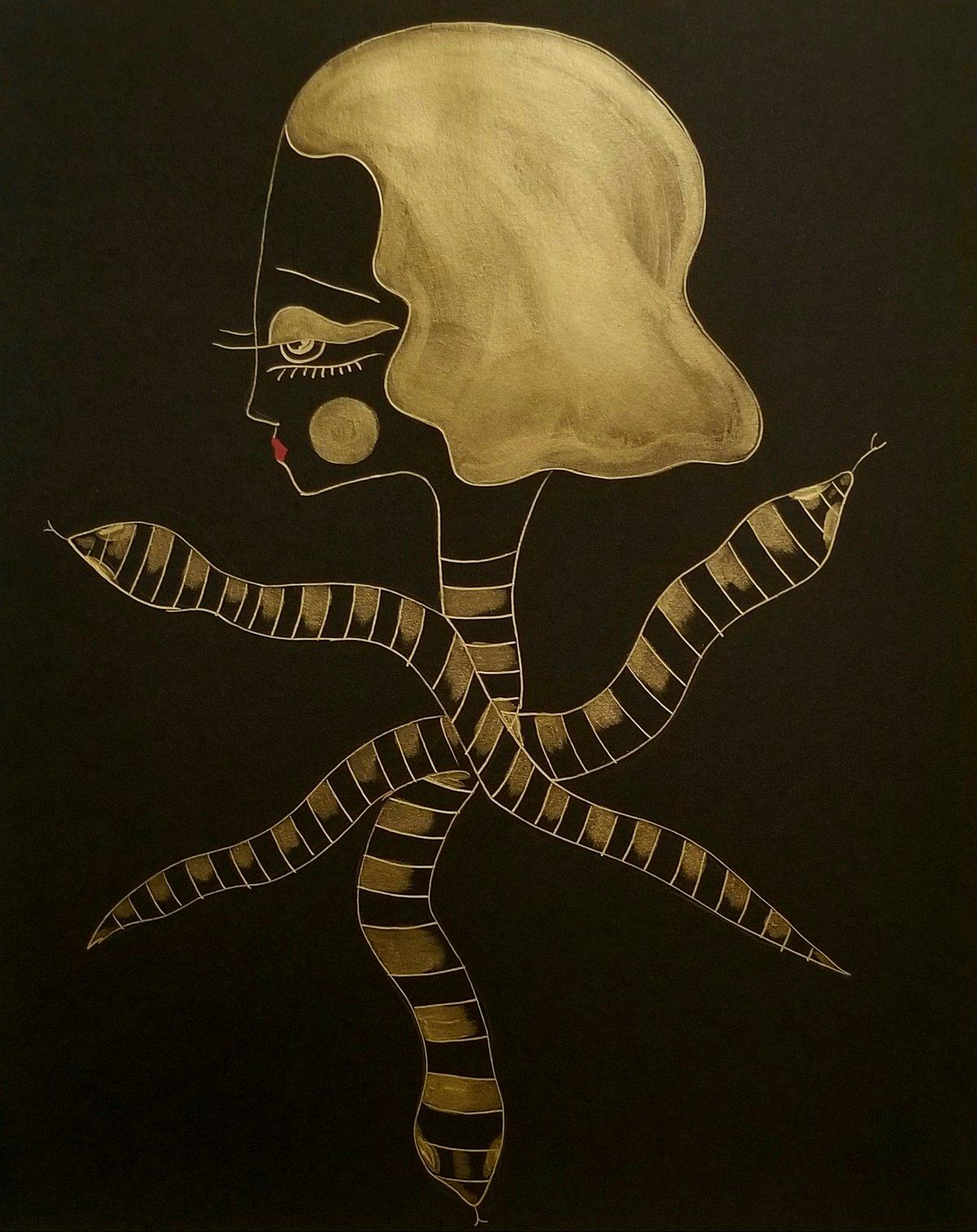 Image of Diedra Golden Snake Goddess