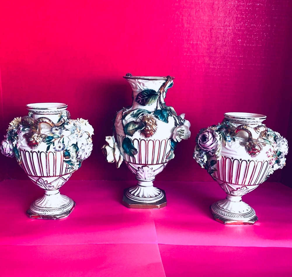Image of Rockingham Derby Vases /set