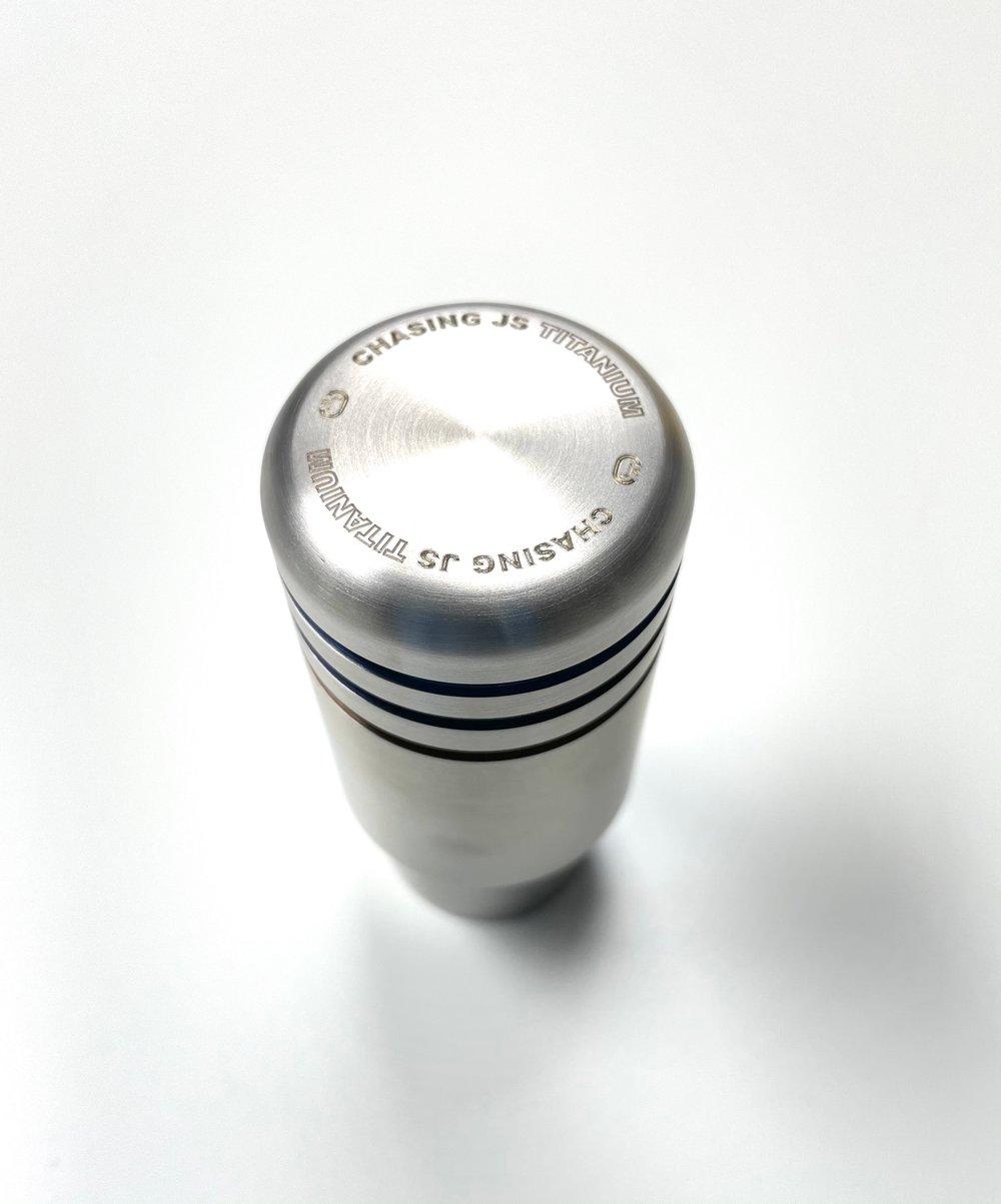 "Chasing Js ""EMPIRE"" Titanium shift knob (Reverse Lockout)"