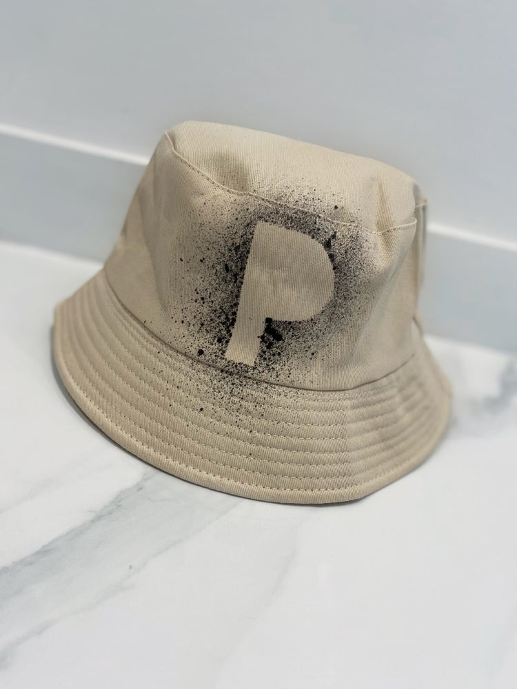 Image of Initial Bucket Hat Beige