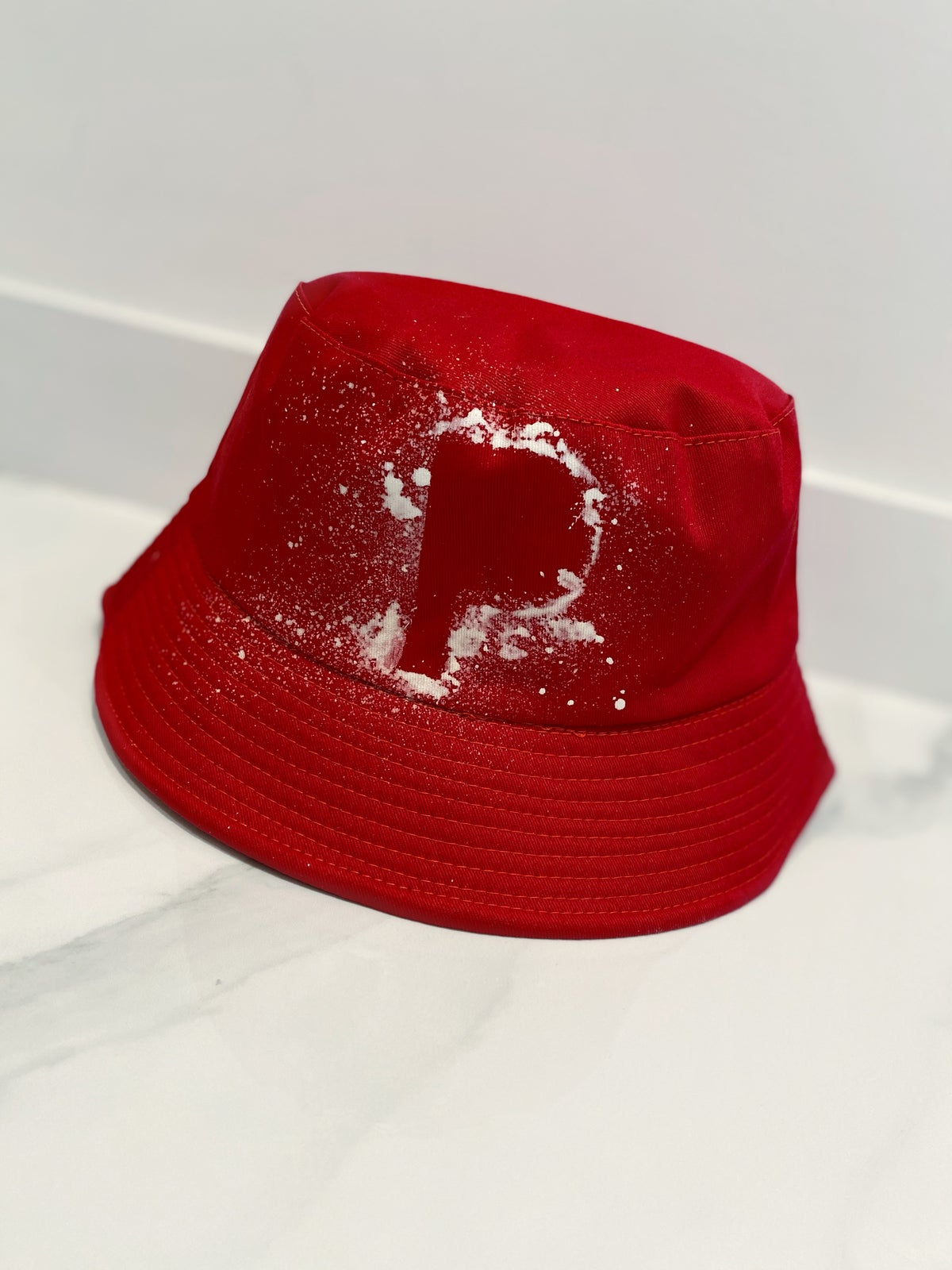 Image of Initial Bucket Hat Red