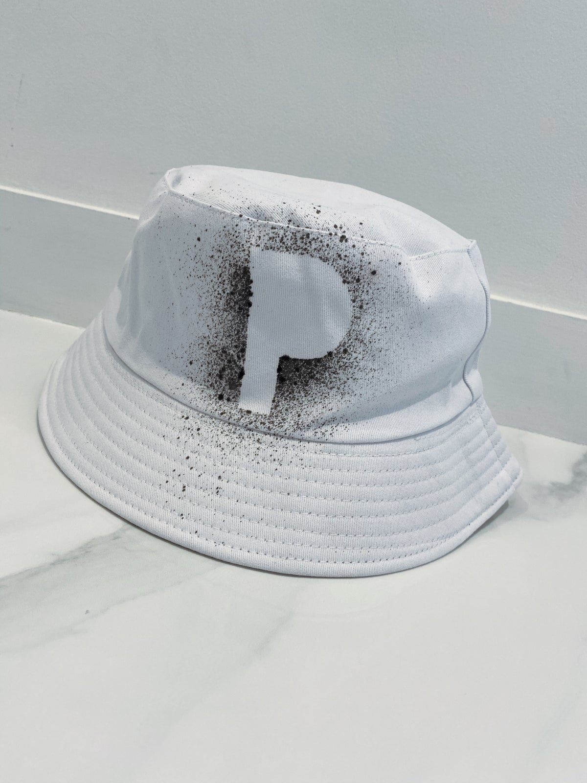 Image of Initial Bucket Hat White