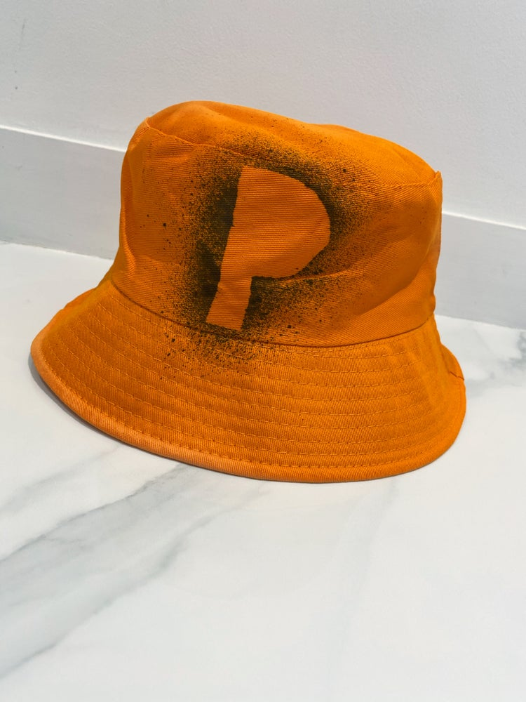 Image of Initial Bucket Hat Orange