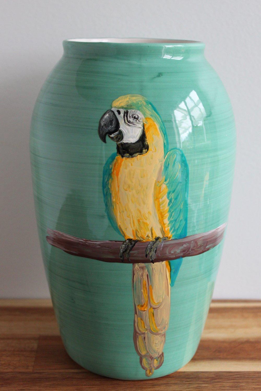 Macaw Vase