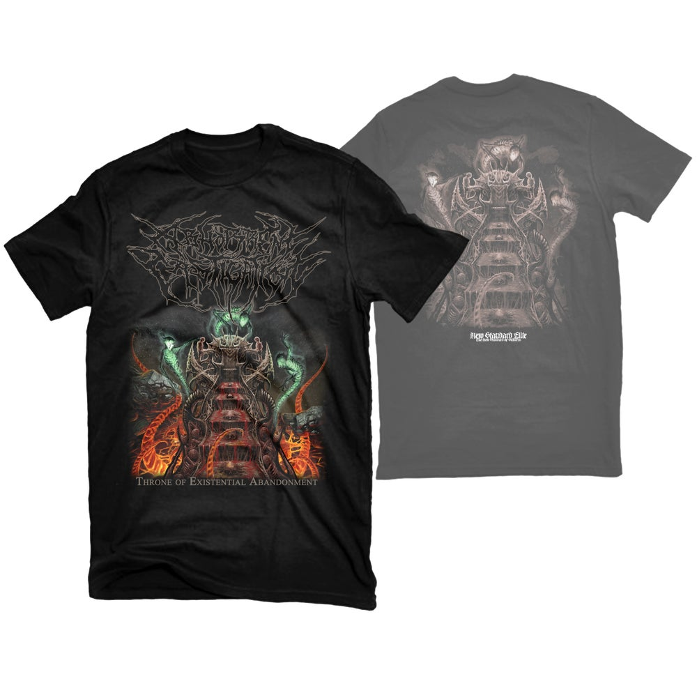 """Image of ABHORRENT CASTIGATION """"THRONE OF EXISTENTIAL ABANDONMENT"""" T-SHIRT"""