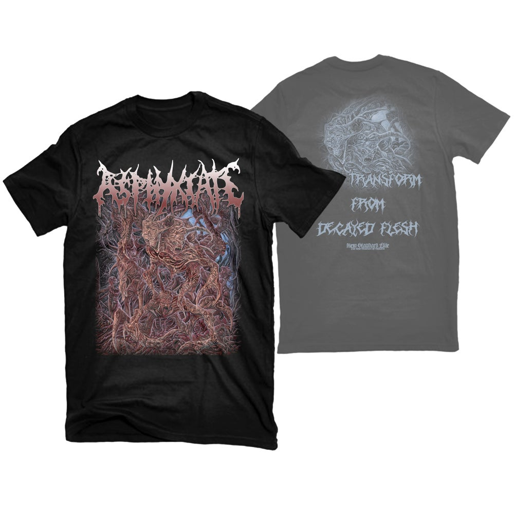 """Image of ASPHYXIATE """"SELF TRANSFORM FROM DECAYED FLESH"""" T-SHIRT"""
