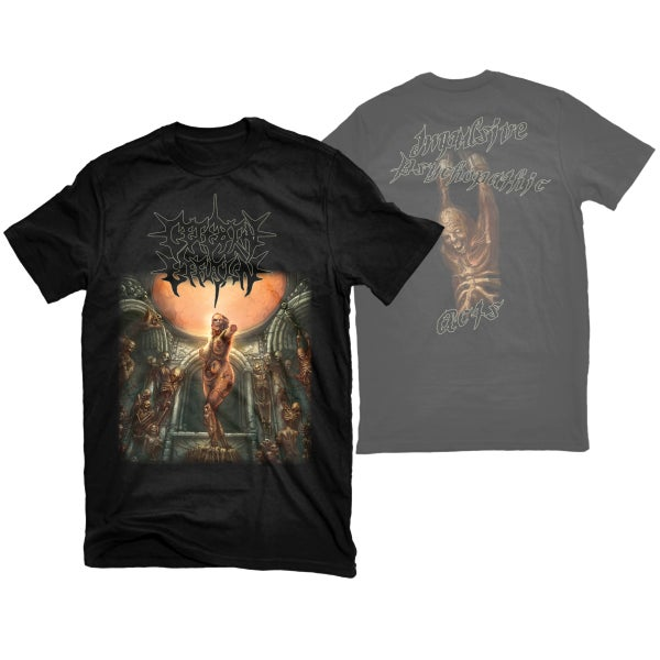 "Image of CEREBRAL EFFUSION ""IMPULSIVE PSYCHOPATHIC ACTS"" T-SHIRT"