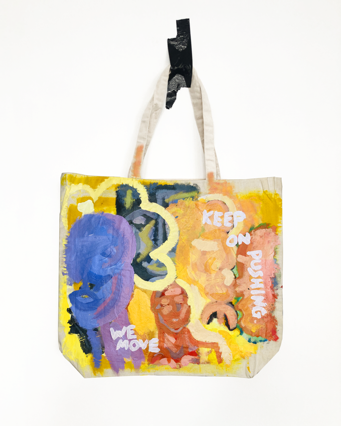 Image of keep on pushing we move | tote