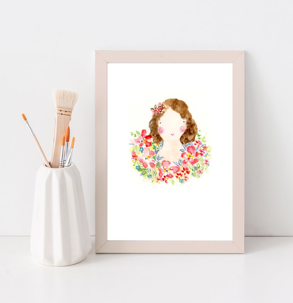 Image of A5 Print / Flower Girl