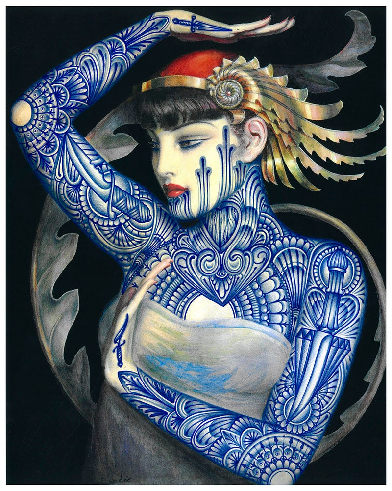 Image of The Blue Muse -print-