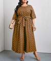Patricia's Plaid Belted A-Line Dress