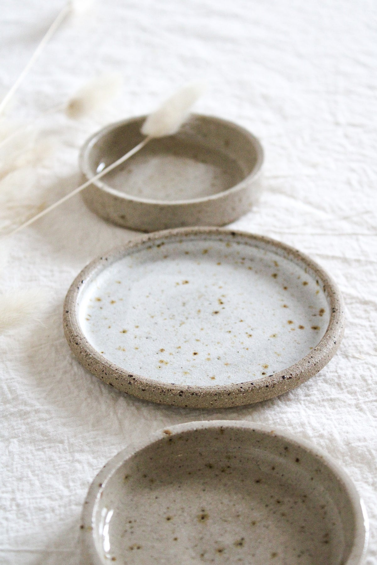 Image of SECONDS SALE set of 3 small plates/saucers