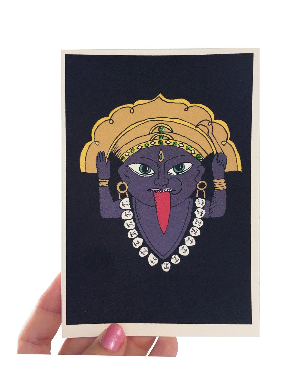 Hindu God Kali Card
