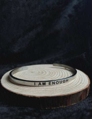 Image of I am Enough bangle (stainless steel)