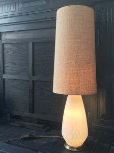 Image of Mid-Century Glass Lamp Base with Three-Way Switch