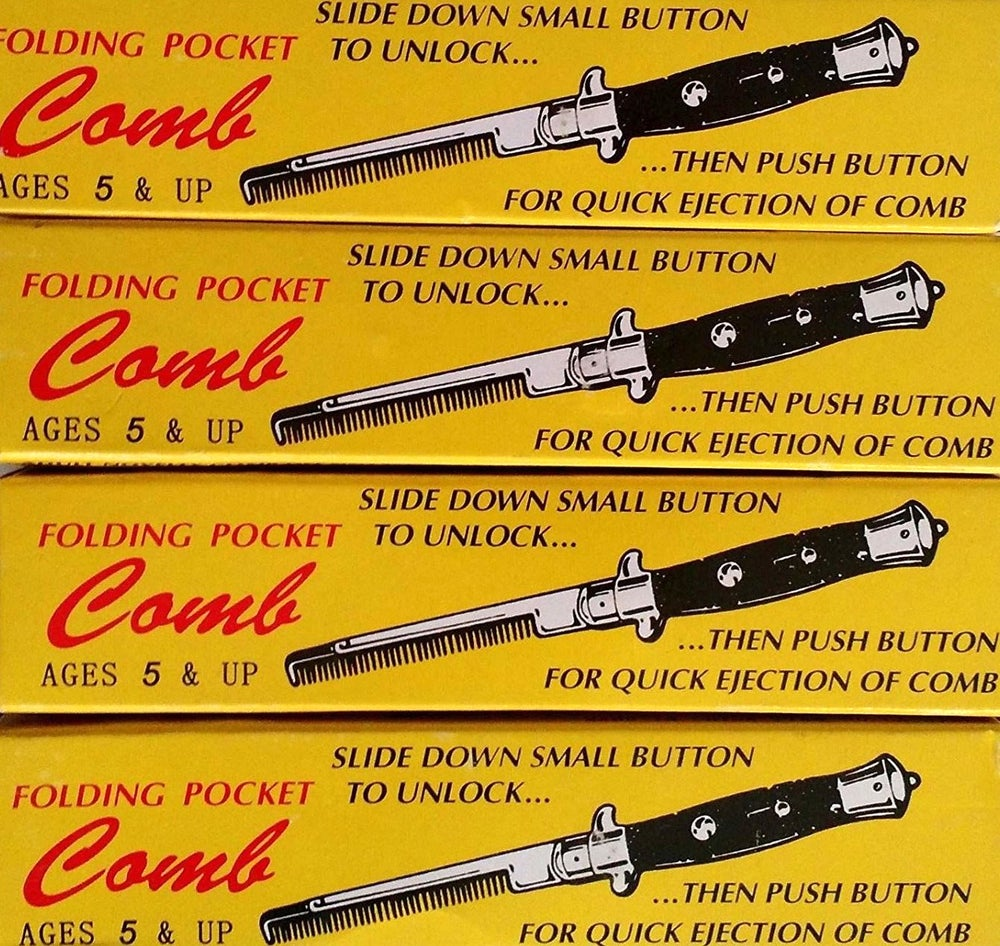 Image of Novelty Greaser Folding Switchblade Hair Comb.