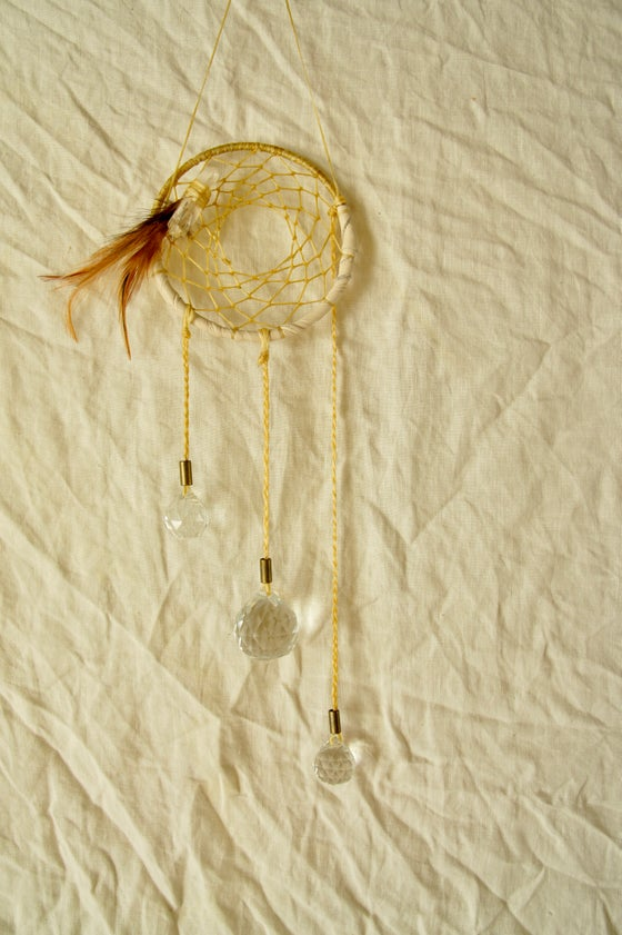 Image of Rainbow Prism Dreamcatcher-Cream