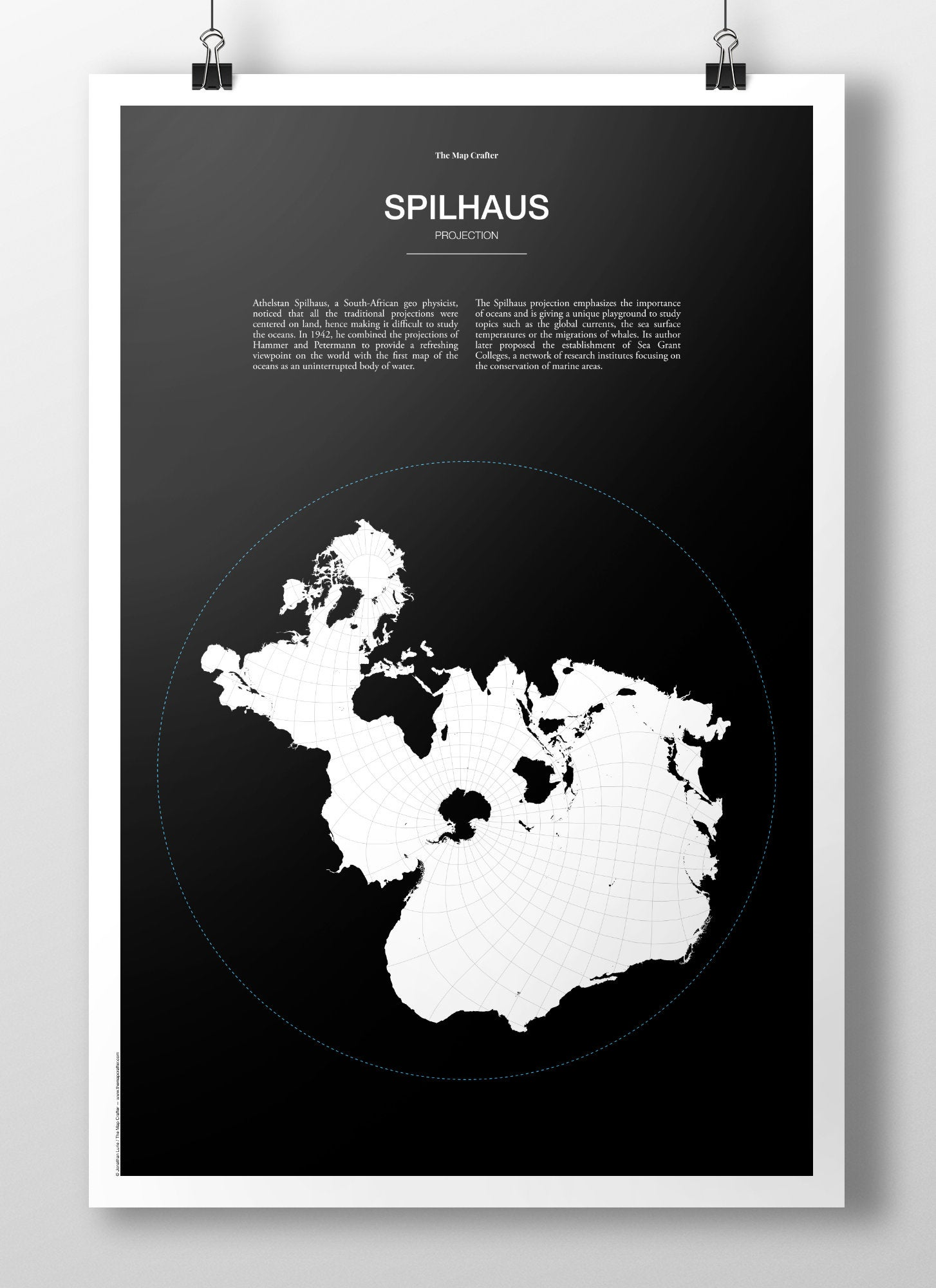 Image of Spilhaus Projection Poster