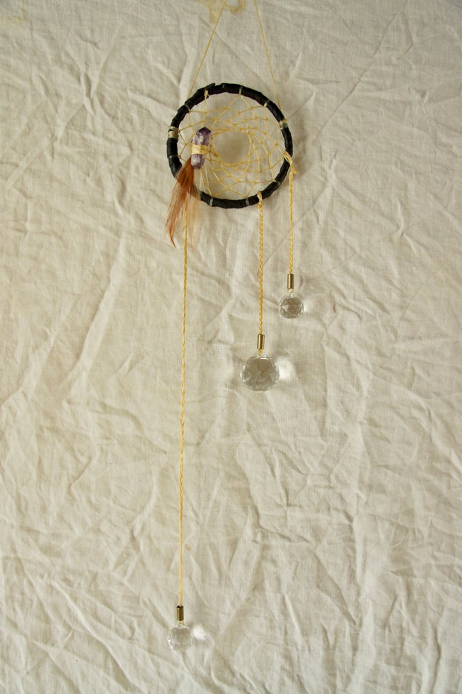 Image of Rainbow Prism Dreamcatcher- Black II