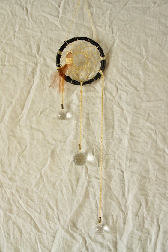 Image of Rainbow Prism Dreamcatcher- Black III