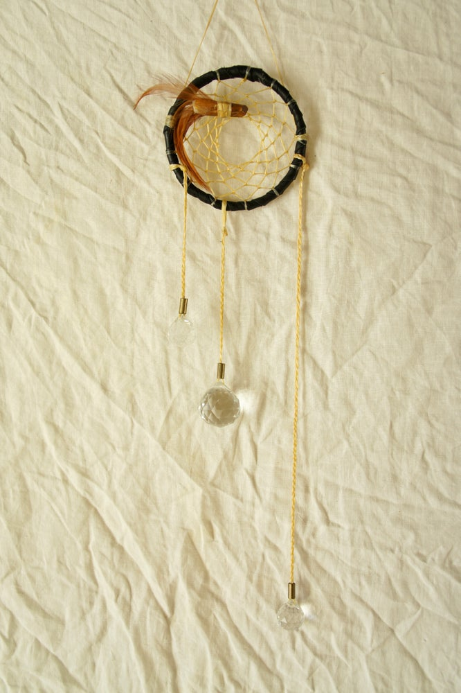 Image of Rainbow Prism Dreamcatcher- Black IV