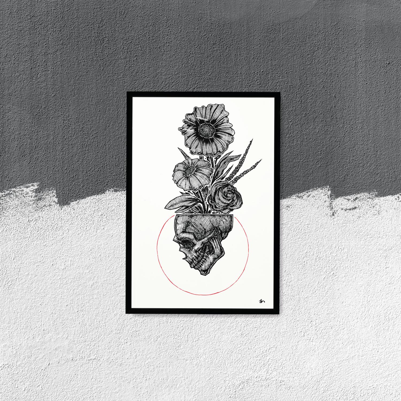 "Image of ""In My Head"" 13""x19"" Luster Art Print"