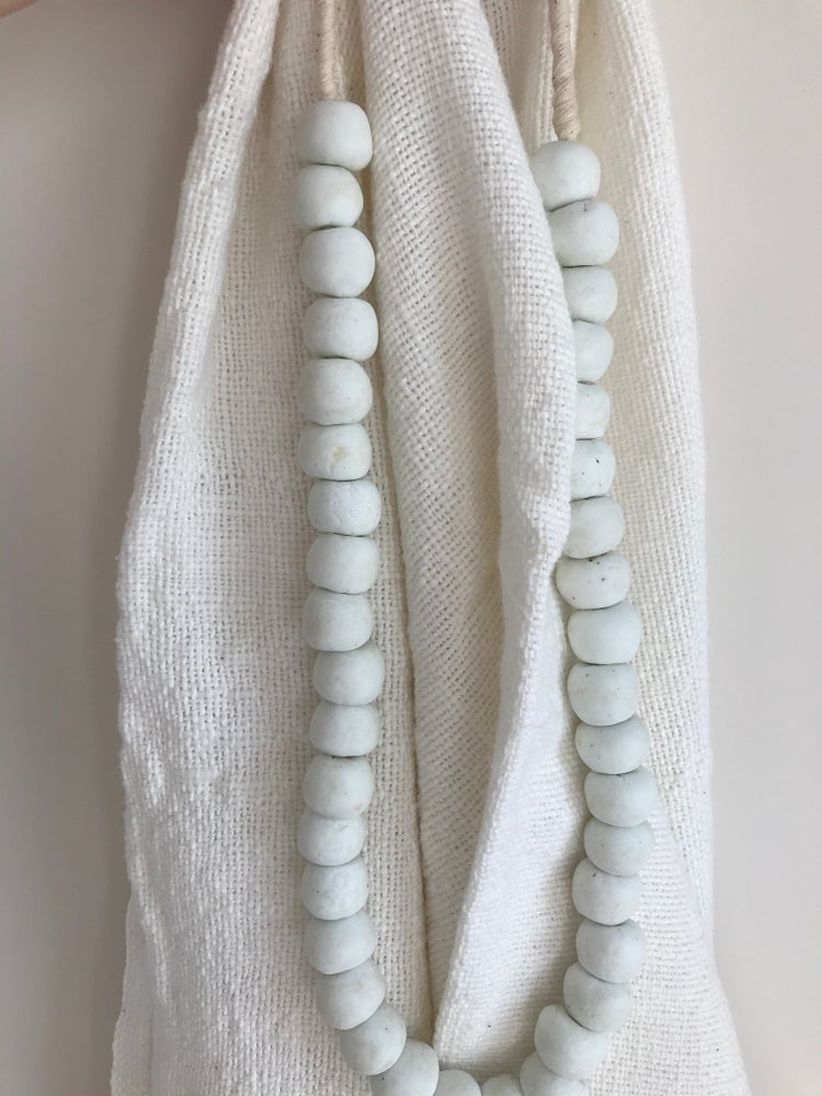 Image of Beads for your home - white glass large