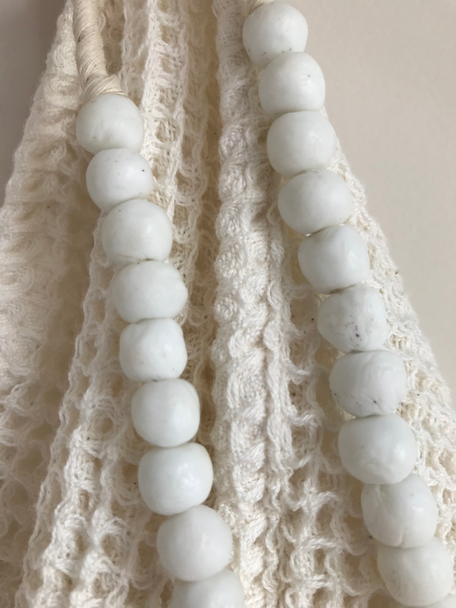 Image of Beads for your home - white glass
