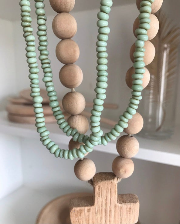 Image of Sea Green Glass Beads - small